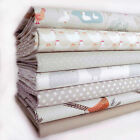 7 FQ BUNDLE PALE STONE - COUNTRY LIFE by LEWIS & IRENE 100% COTTON FABRIC