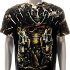 b153 Sz M L XL XXL XXXL Survivor T-shirt Tattoo STUD Skull Pirate Ghost Men Tee