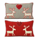 Paoletti Nordica Kissmas Reindeer Scandinavian Christmas Wool Cushion Cover