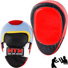 Real Leather Focus Pads Kick Boxing Punch Training Muay Thai Karate MMA Hook Jab