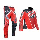 Wulfsport Cub Kids Childrens Childs Comp Motor Bike Trials Top And Pants - Red