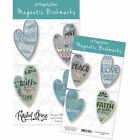 Set of 4 Faith Hope Love Peace Magnetic Heart Bookmarks by AngelStar 073670