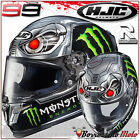 CASCO MOTO RACING INTEGRALE REPLICA LORENZO HJC RPHA 10 PLUS FIBRA SPEED MACHINE