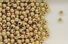 14K Gold Filled 4mm Seamless Round Spacer Beads, Choice of Lot Size & Price