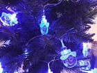 30 LED Novelty Santa Snowflake Angel Snowman Christmas Tree Fairy String Lights