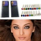 40/60PCs/Set Crystal Rhinestone Bulk Bone Straight Piercing Nose Stud Bar Ring