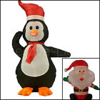 LED INFLATABLE 3D PENGUIN FATHER CHRISTMAS OUTDOOR FIGURE DECORATION LIGHT 80CM
