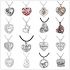 Charm Family Gift Personal Heart Love Letter Engraved Pendants Choker Necklaces