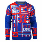 "New York Rangers UGLY Christmas SWEATER Crew Neck ""Patches"" NHL NEW 2015 $51.95 USD on eBay"