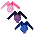 Kids Princess Gymnastics Sailor Moon Dancewear Ballet dresses Velvet Suit 3-12Y