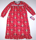 Nwt New Disney Minnie Mouse Flannel Granny Nightgown Pajamas Red Bow Cute Girl