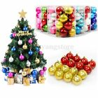 16Pcs 4/6cm Christmas Tree Xmas Ball Bauble Hanging Party Ornament Decor Home