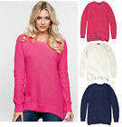 La Redoute Cream Navy Pink Jumper Sweater 100% Cotton Sizes 8 to 22