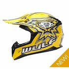 Wulfsport Kids Childrens Childs Flite Xtra Motor Bike Motocross Helmet - Yellow