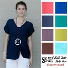 OH MY GAUZE Cotton Side-Ruched SWEET Top 1(M/L) 2(L/XL) 3(1X) 2015 DISC COLORS