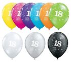 "18th Birthday Party Balloons 11"" {Qualatex} Pack of 6 (Helium Quality/Age 18)"