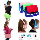 Childrens Messenger Style Travel Bag with Kids Headphones for Amazon Fire HD 6