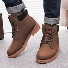Suede Warm Mens Winter Leather ankle Boot Outdoor Waterproof England Retro shoes