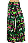 Juniors Womens Wide Leg Brocade Damask Fleur De Lis Palazzo Pants