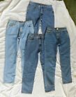 4 Pair Women's L.A. Blue Jeans - 5 Pocket - Size 8