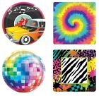 Decade Themed PAPER PARTY PLATES - Pack of 8 {27cm} (50s/60s/70s/80s)