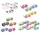 Fancy Dress PLASTIC GLASSES - Packs of 10 - Different Styles (50s/60s/70s/80s)