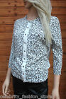 Karen Millen White Leopard Popper Evening Dress Cardigan Knit Jacket 12 14 New
