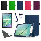 Slim Leather Wallet Stand Case Cover for Samsung Galaxy Tab S2 8.0 Inch Tablet