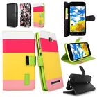 Leather Wallet Card Holder Flip Folio Stand Smartphone Case Cover For BLU Phone