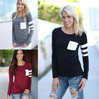 Hot Women Lady Casual Crochet Pullover Long Sleeve Loose Tops T-Shirt Blouse