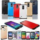 Hybrid Rugged Dual Layer Armor Hard+Soft Shell Rubber TPU Heavy Shockproof Case