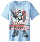 % Transformers Awesome In Progress Little Boy's T-Shirt - Light Blue