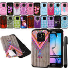 For Samsung Galaxy S6 G920 Shockproof HYBRID Rugged HARD SOFT Case Cover + Pen