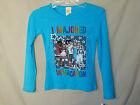 HIGH SCHOOL MUSICAL 100% COTTON Blue Long Sleeve Tee GIRL SIZES NWT