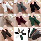 YW Hot-sale Girl Knitted Fingerless Winter Gloves Unisex Soft Warm Mitten 7Color