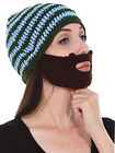 Beard Beanie Winter Warm Knit Crochet Outdoor Hat Mustache Face Warmer Mask