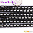 "Drum Hematite Natural Stone Craft Jewelry Making Design Beads Gemstone 15""DIY"