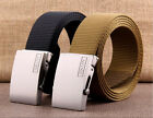 Classical Mens Fashion Sports Nylon Waistband Alloy Automatic Buckle Belts C52