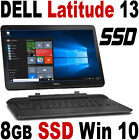 "NEW Windows 10 PRO DELL Latitude 13 7000 2-in-1 FHD 13.3"" Touch 8GB SSD Laptop"