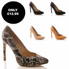 LADIES WOMENS FASHION FORMAL EVENING HIGH HEEL PARTY STILETTO COURT SHOES SIZE