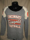NFL Cincinnati Bengals Football Royal Scramble Sport Fleece Sweat Shirt Women $25.58 USD on eBay