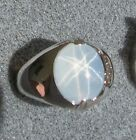 PMP LINDE LINDY TRANS WHITE STAR SAPPHIRE CREATED RING RH...