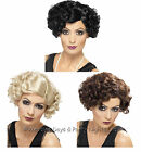 Smiffys Short Curly Flirty Flapper Wig 20s 40s Gangsters Moll Ladies Fancy Dress