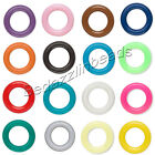 Lot of 50 Round 10mm Rubber Ring Spacer Rondelle Disc Beads with Big 6mm Hole