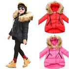 Girls Kids Winter Hoodies Faux Fur Coat Jacket Baby Snowsuit Outerwear Coat