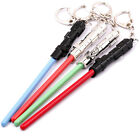 New Medal Star Wars Lightsaber Key Ring Keychain Pendant In Box