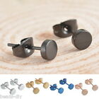BD 1Pair New Fashion Stainless Steel Round Men's Simple Ear Stud Earrings Punk
