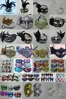 PACK 12 MASQUERADE MASKS, PARTY, BALL, FANCY DRESS, HEN NIGHT, STAG DO, NEW YEAR