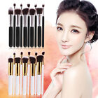 10Pcs Pro Cosmetic Makeup Blusher Eyeshadow Powder Foundation Lip Brushes Set
