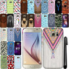 For Samsung Galaxy S6 G920 PATTERN HARD Protector Back Case Phone Cover + Pen